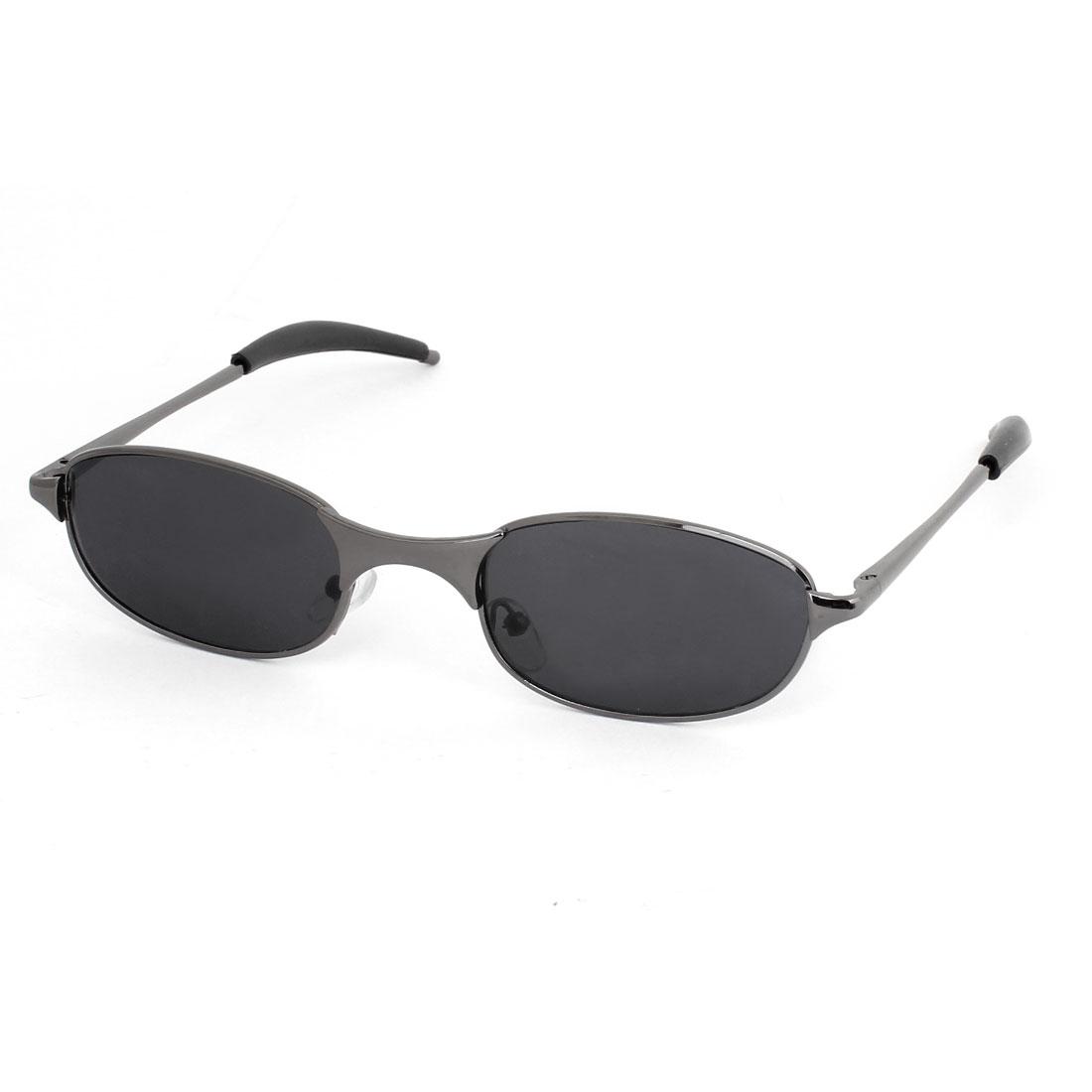 Single Bridge Colored Lens Full Rim Driving Sunglasses Glasses w Case Holder