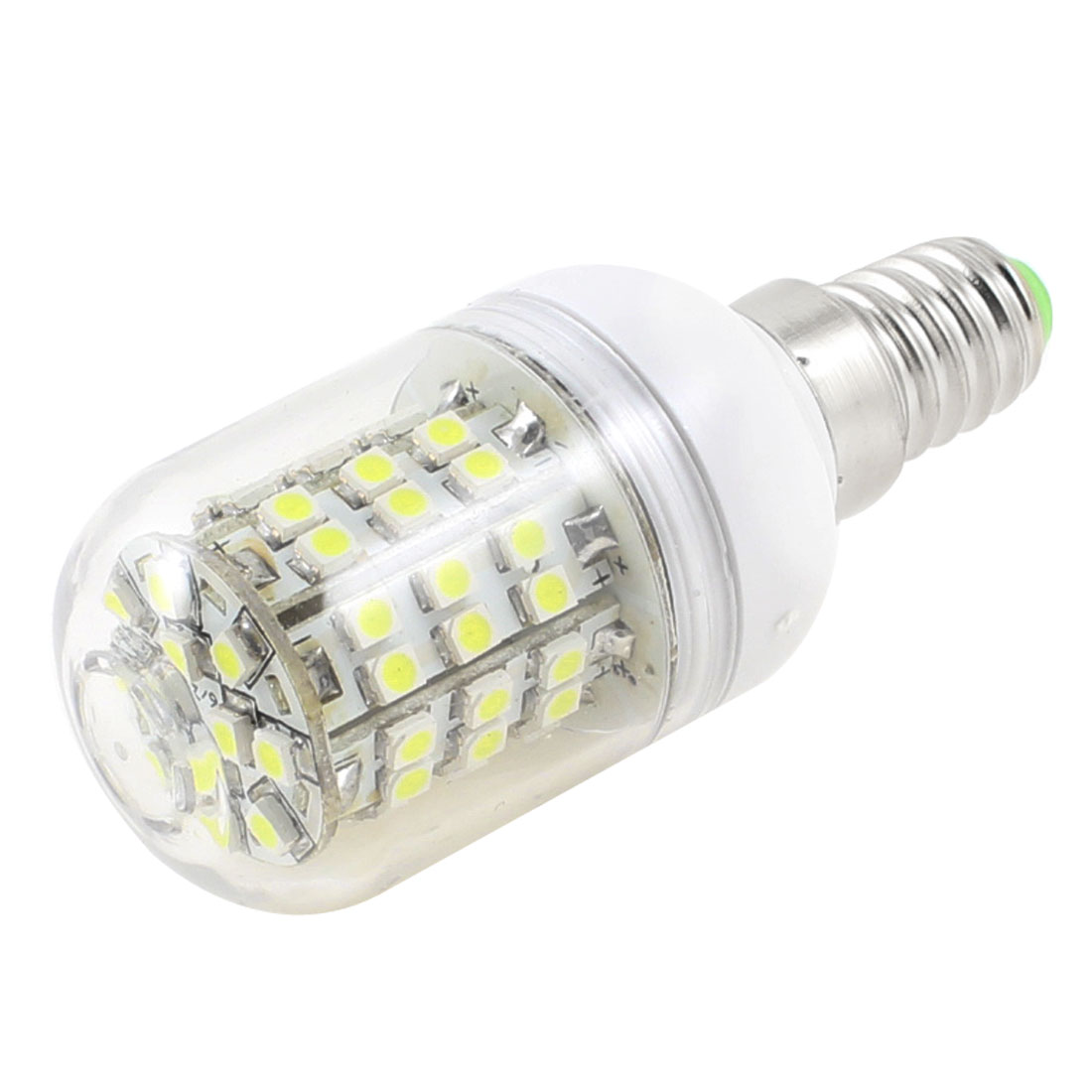 5W White Light Energy Saving LED Corn Bulb E14 3528 60SMD Lamp AC 200-240V