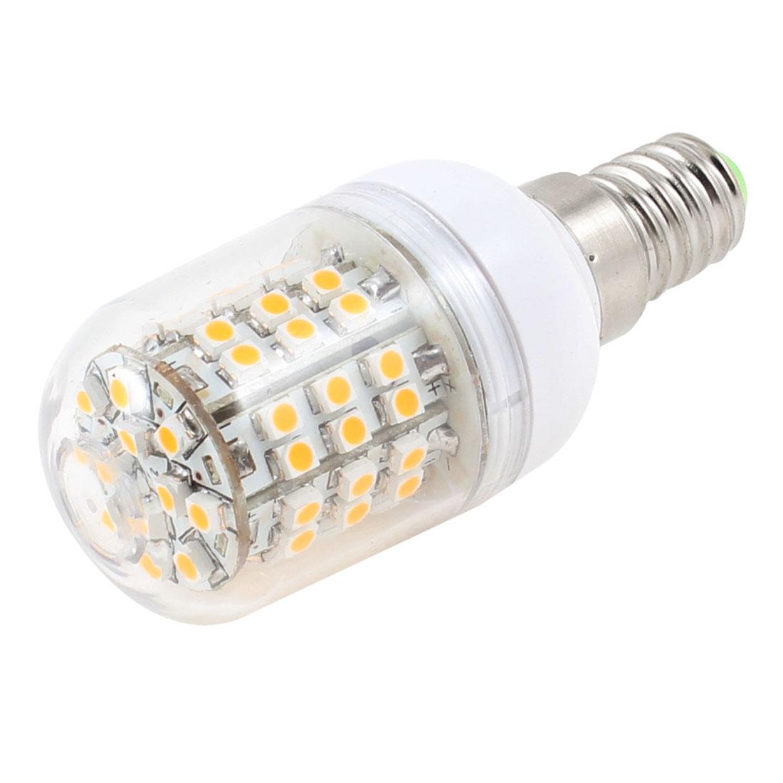 5W Warm White Light Corn Bulb E14 3528 60LED Lamp AC 200-240V