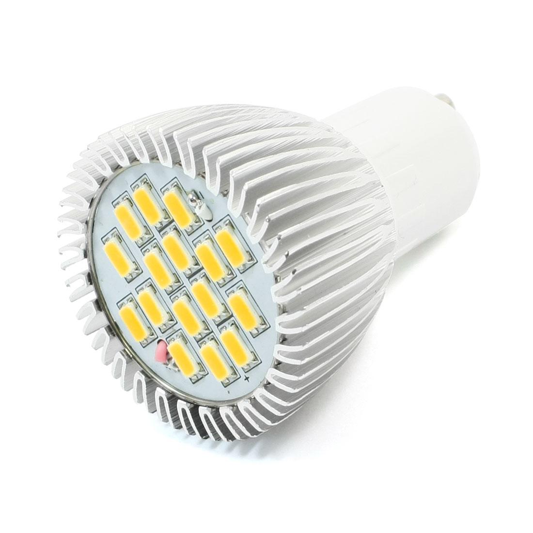Home GU10 6W LED Lamp Bulb AC 220V White Spot Light Lamp 450LM