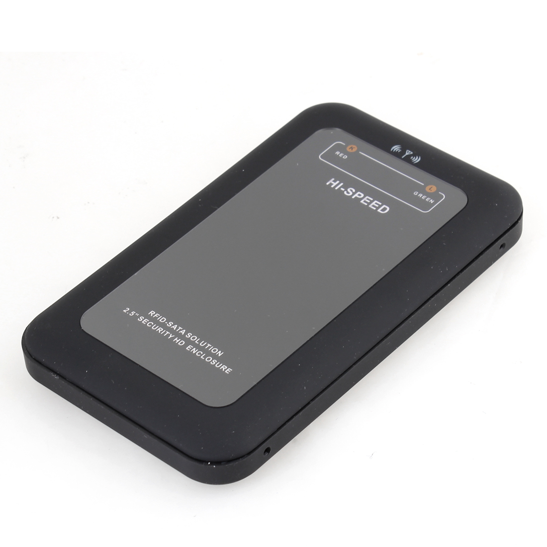 """Black Plastic USB 2.0 to SATA 2.5"""" 2.5 Inch HDD Enclosure Case w Induction Cards"""