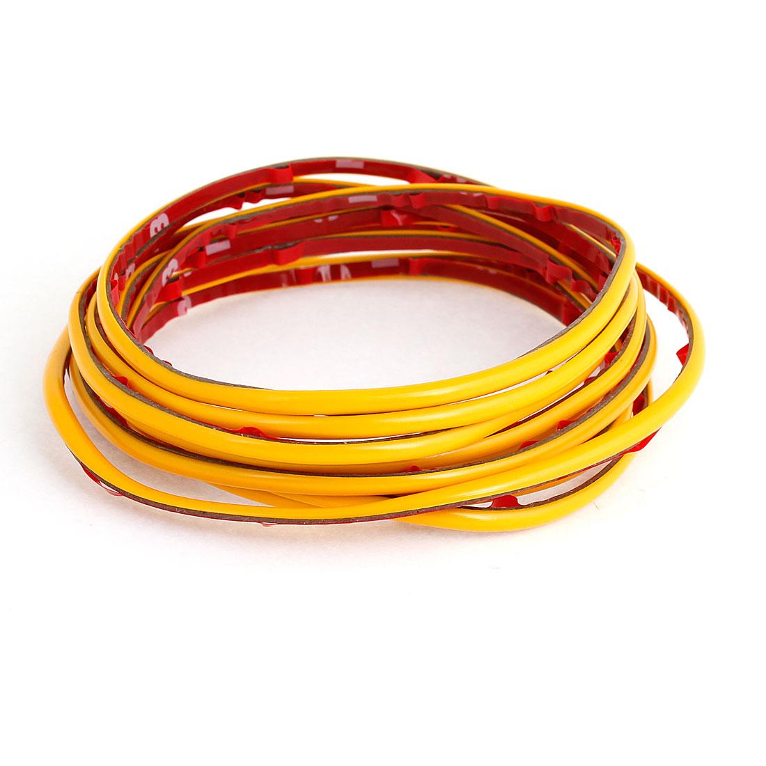 3Meter x 4mm Yellow Flexible Plastic Moulding Trim Strip for Auto Car
