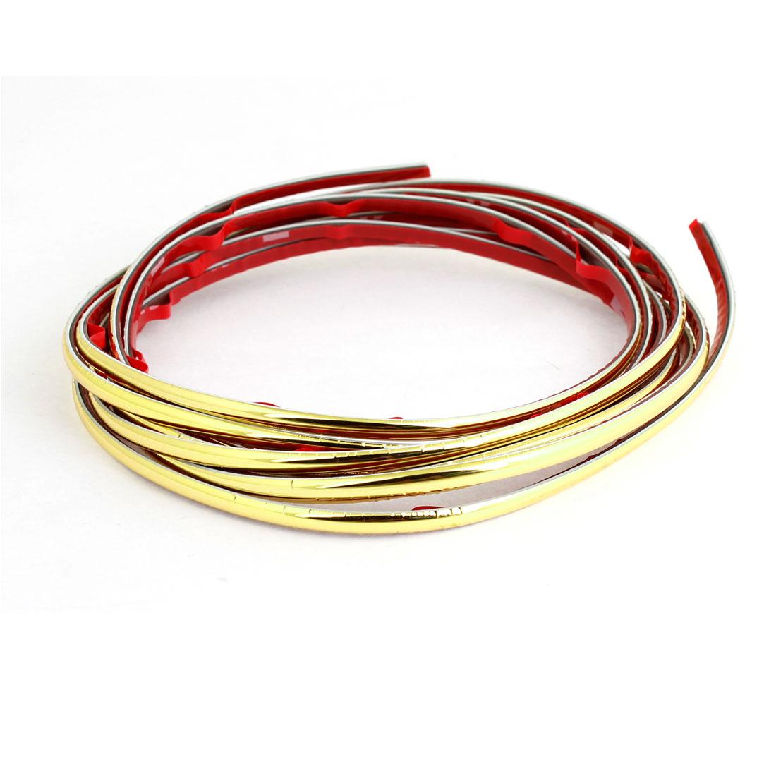 3Meter x 4mm Gold Tone Flexible Plastic Moulding Trim Strip for Auto Car