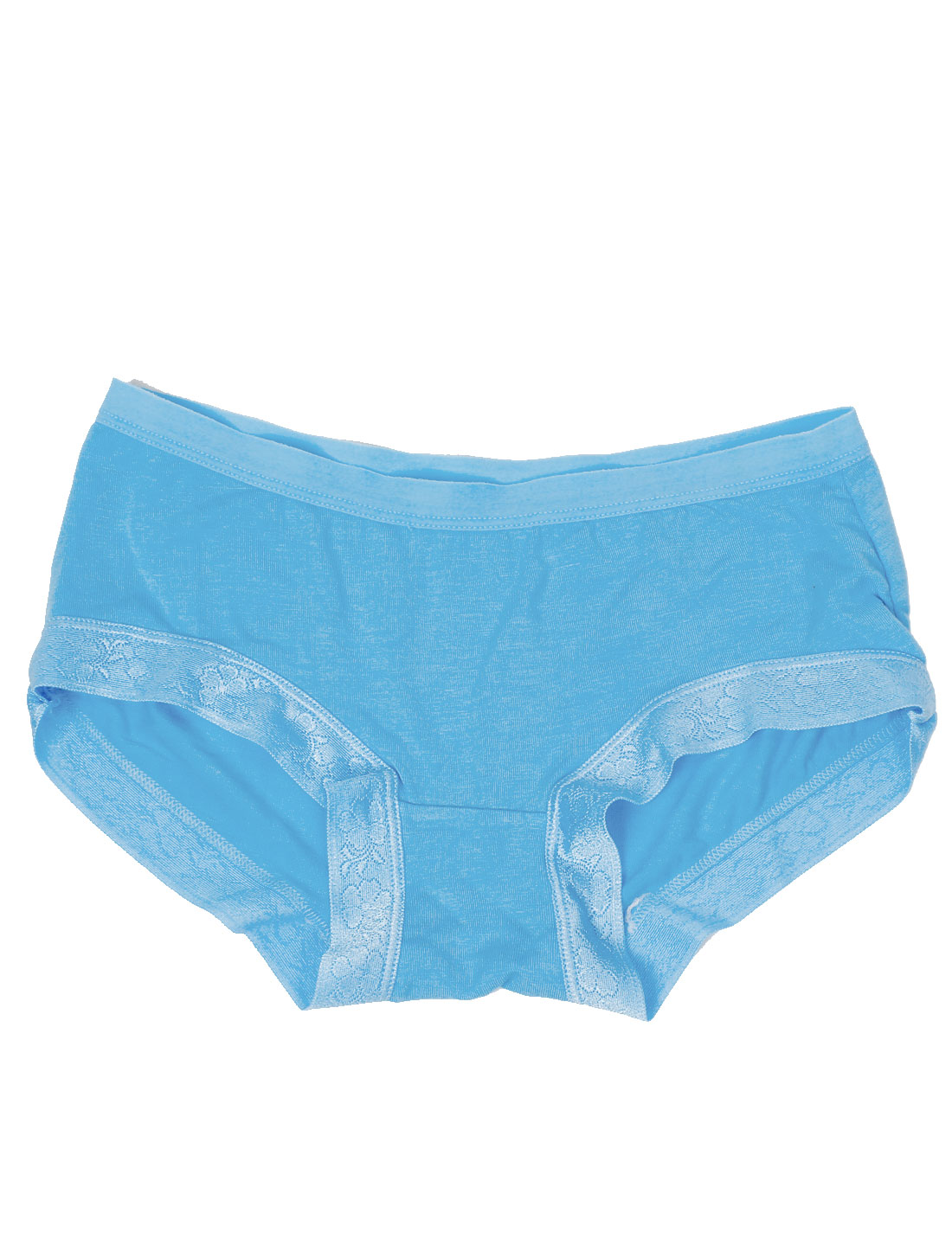 Ladies Lace Panel Elastic Fashion Underwear Briefs Turquoise XS