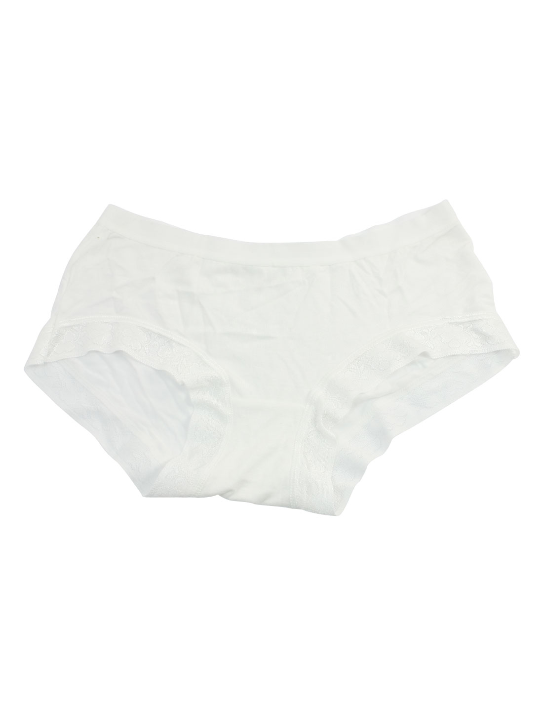Women Stretchy Waist Stylish Underwear Briefs White XS