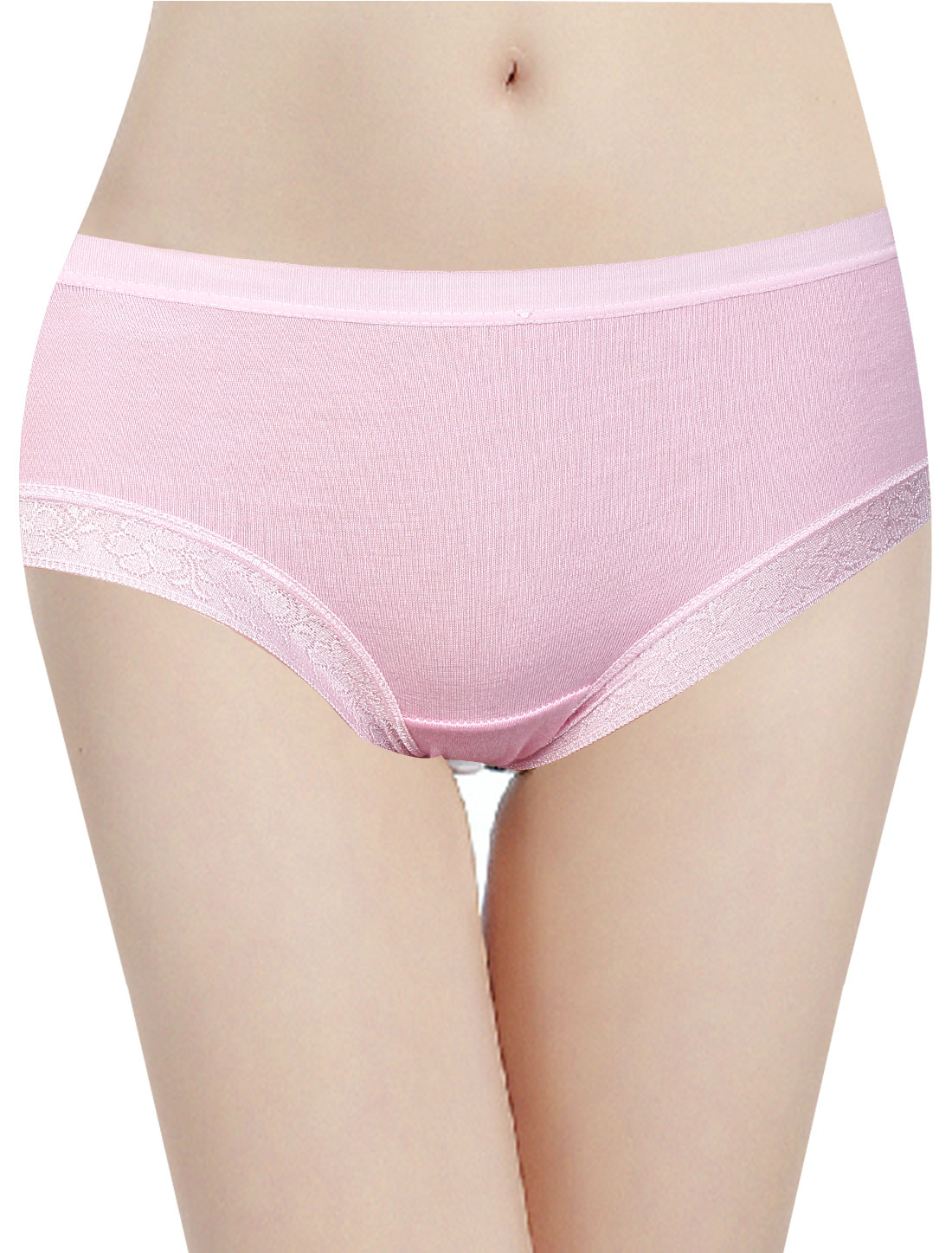 Elastic Waist Sweet NEW Underwear Briefs for Ladies Pink XS