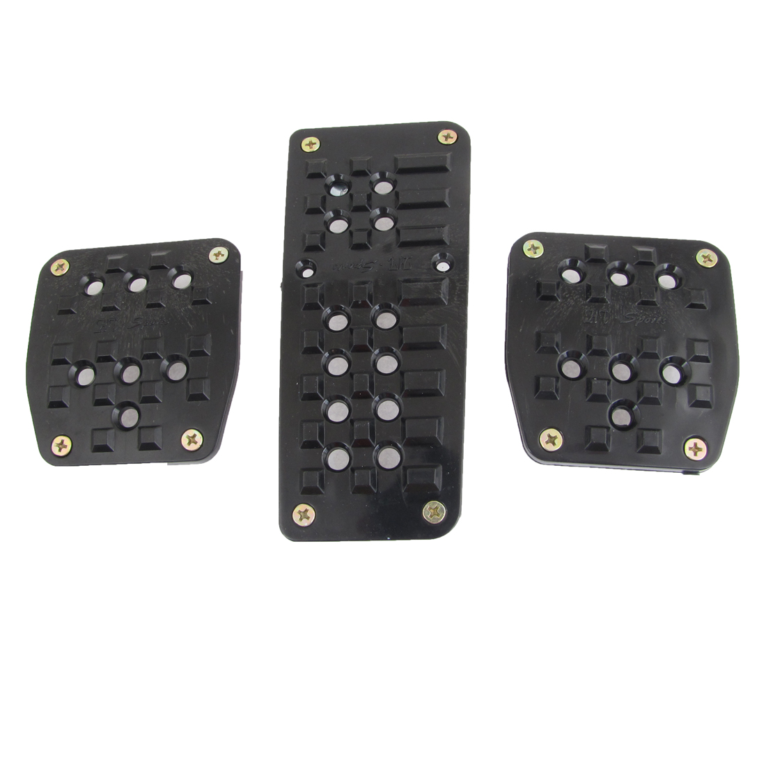 3 in 1 Black Metal Antislip Surface Gas Brake Pedal Cover for Auto Cars