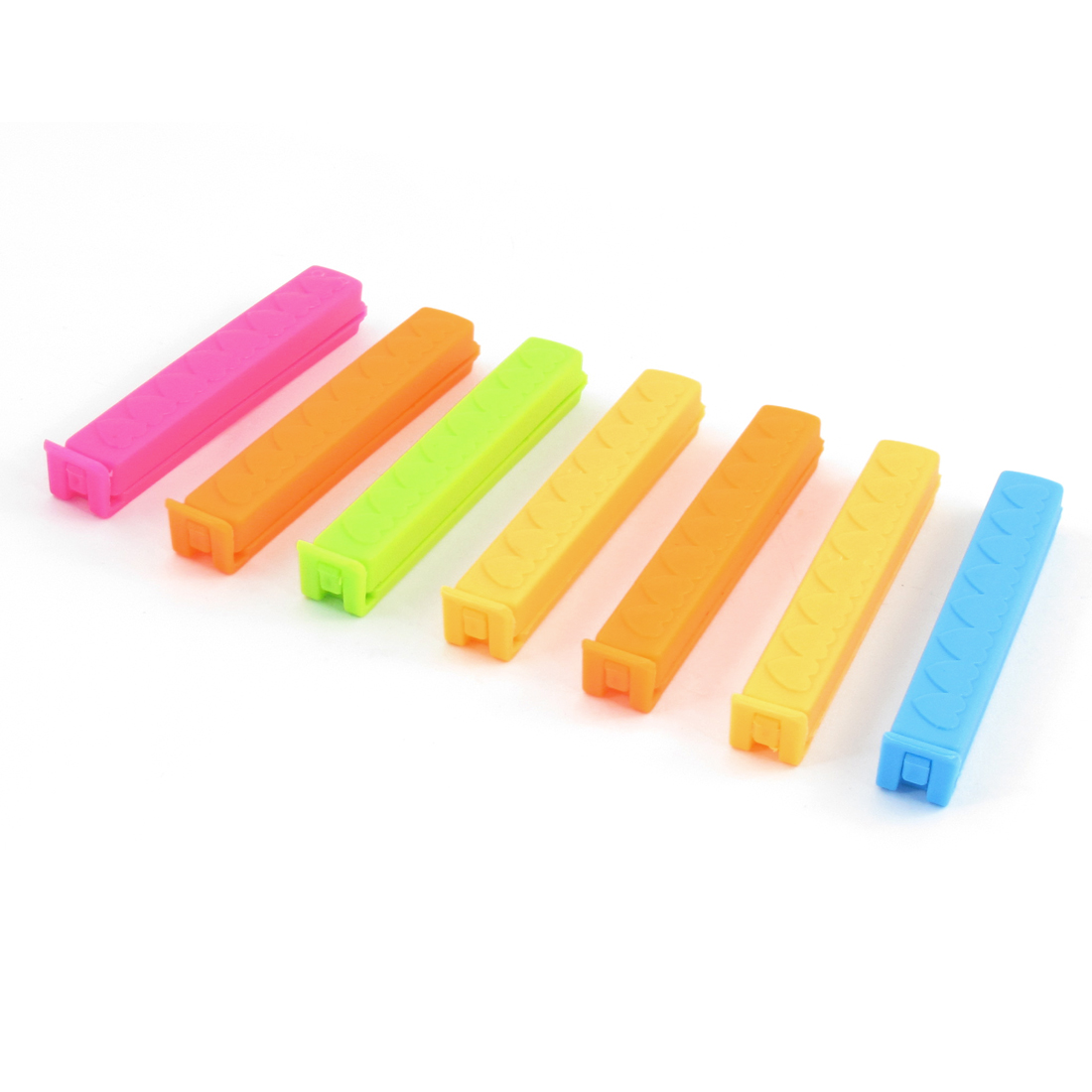 Home Kitchen Assorted Color Plastic Sealing Bag Clips 7 Pcs