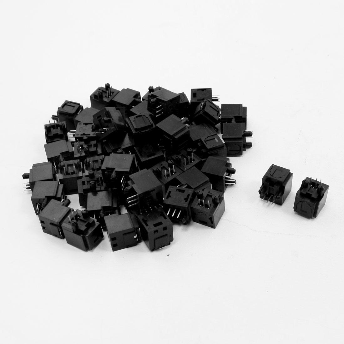 50 Pcs Optical Fibers Jack Sockets 16mmx14mmx12mm for A/V Audio Video