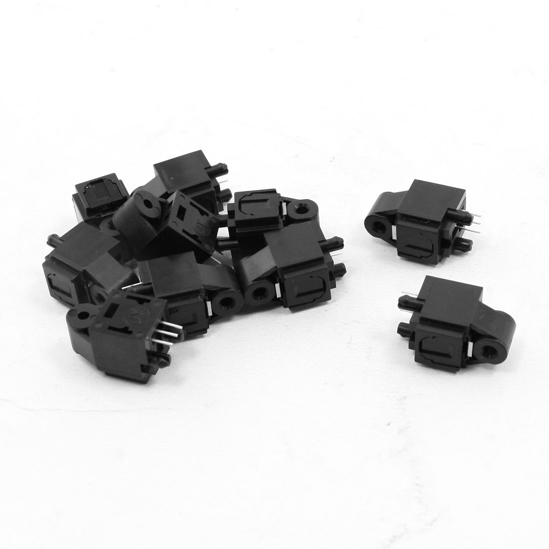 10 Pcs Optical Fibers Jack Sockets 23mmx14mmx12mm for A/V Audio Video