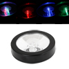 Black Shell 3 LED Color Flashing Changing Light Coaster for Bottles Cups Glasses