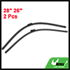 "2 Pcs 28"" 26"" Windscreen Bracketless Wiper Blade for 2008 DongFeng Peugeot 308"