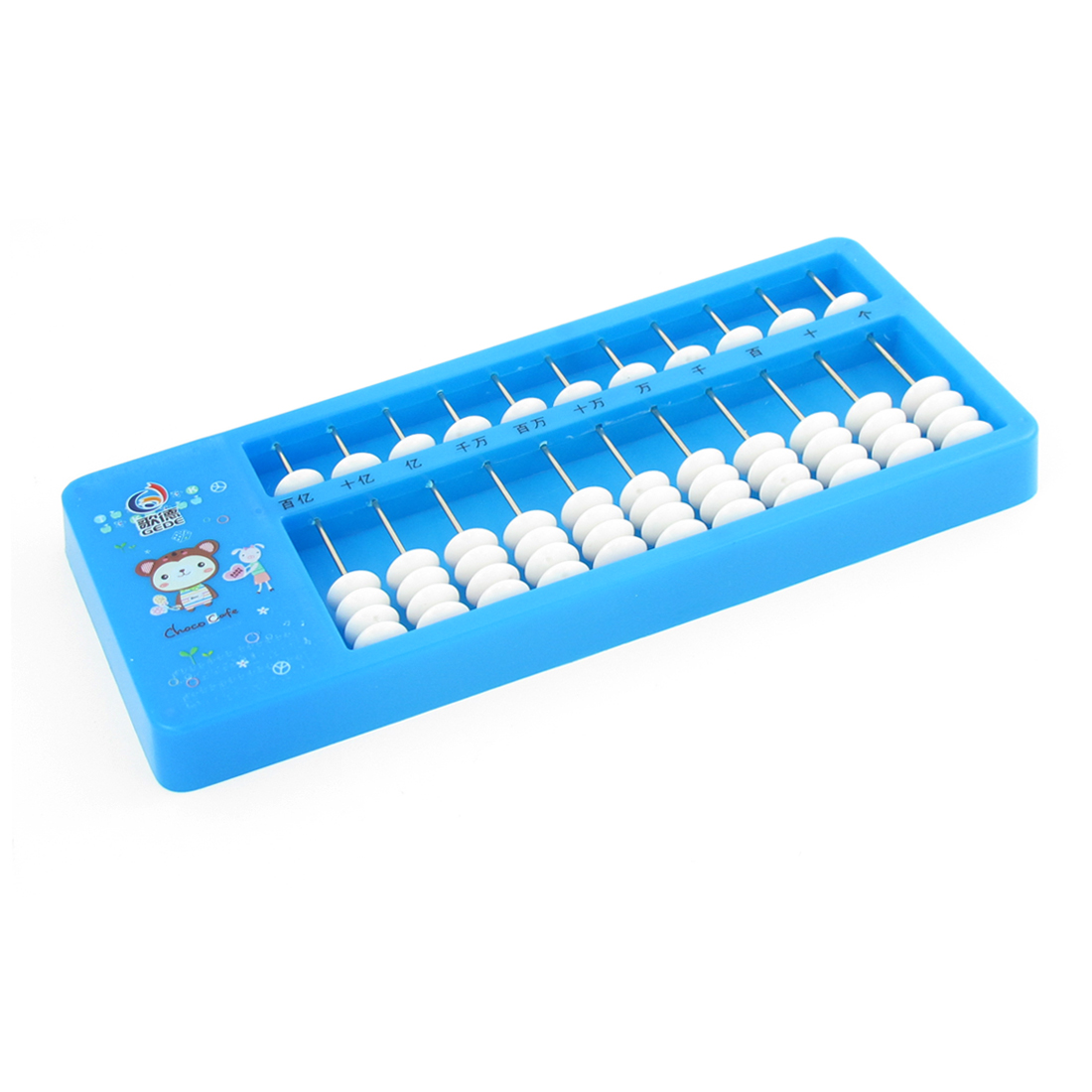 Blue Plastic Frame 11 Rows Japanese Soroban Abacus Calculating Tool for Child