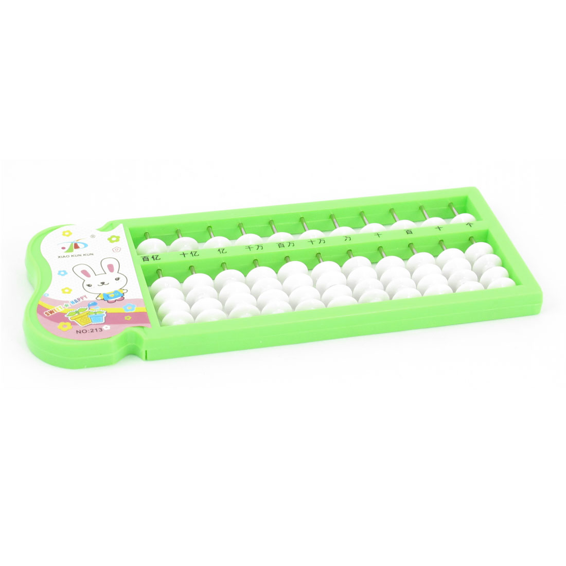 Education 55 Beads 11 Rows Grass Green Plastic Frame Mini Abacus Soroban