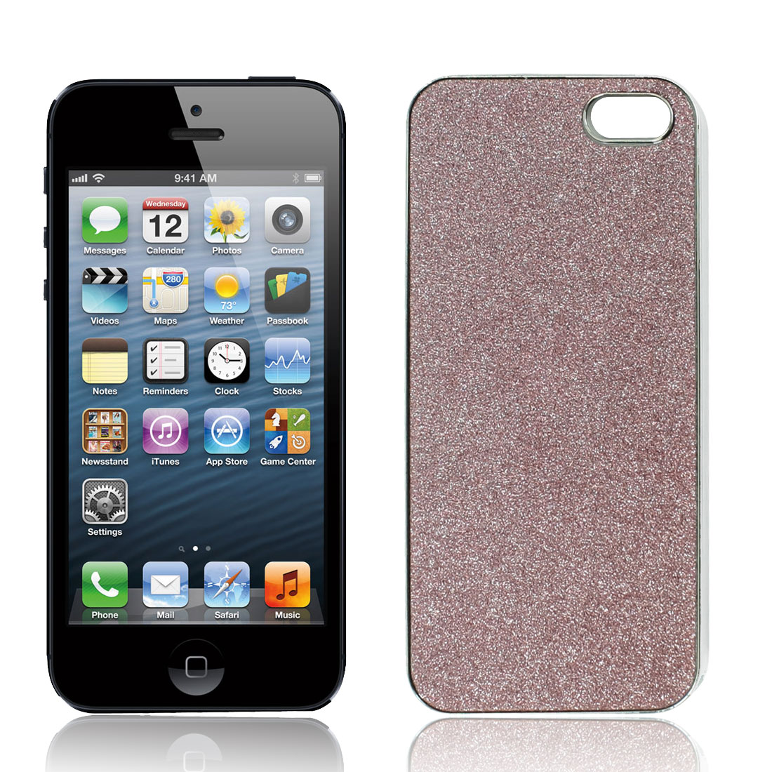 Mirror Polish Purple Sparkle Hard Back Case Protector for iPhone 5 5G