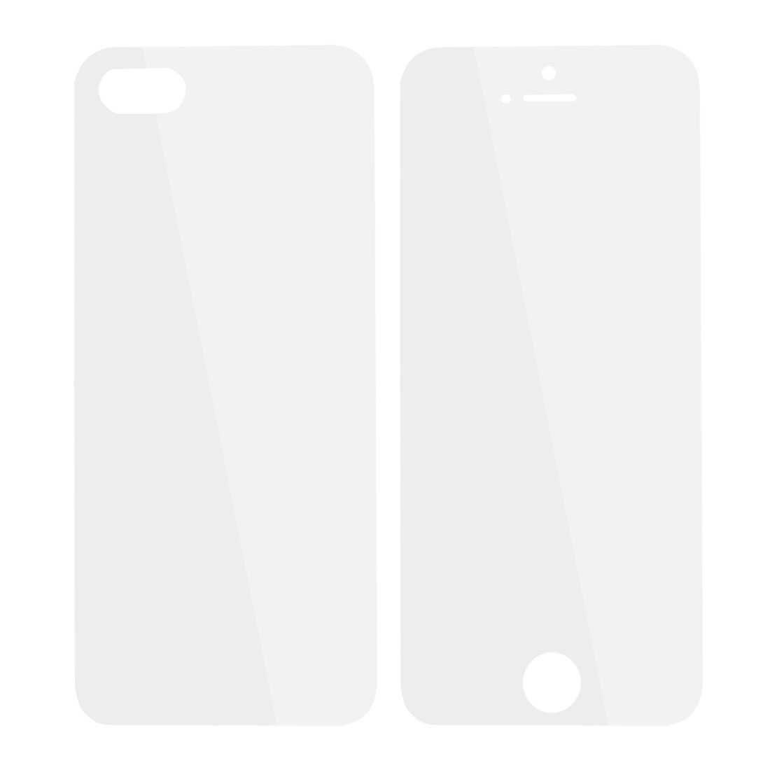 2 Pcs Front Back Screen Guard Shield Clear for Apple iPhone 5
