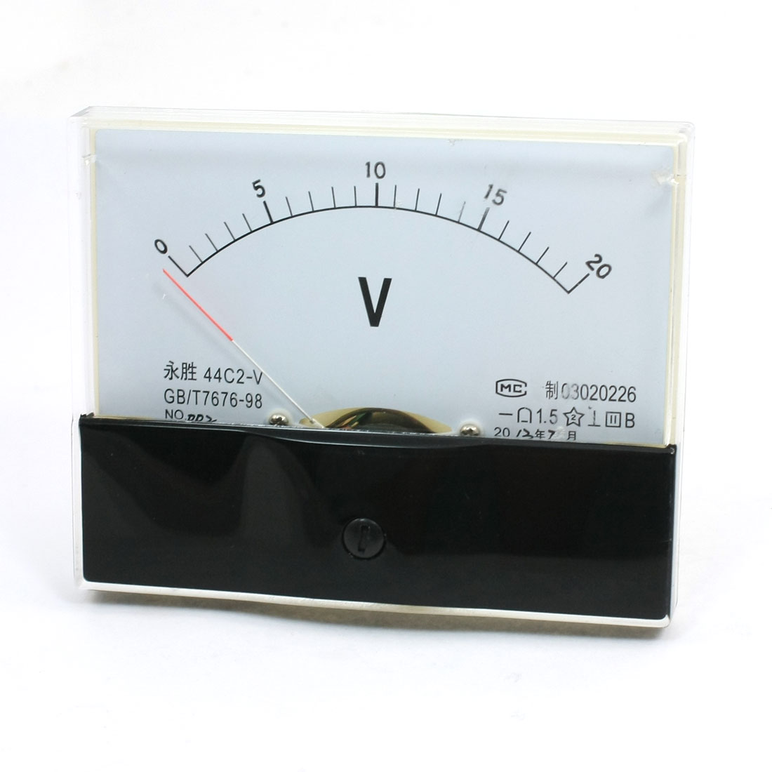 Analogue 0-20V DC Voltage Needle Panel Meter Voltmeter 44C2-V