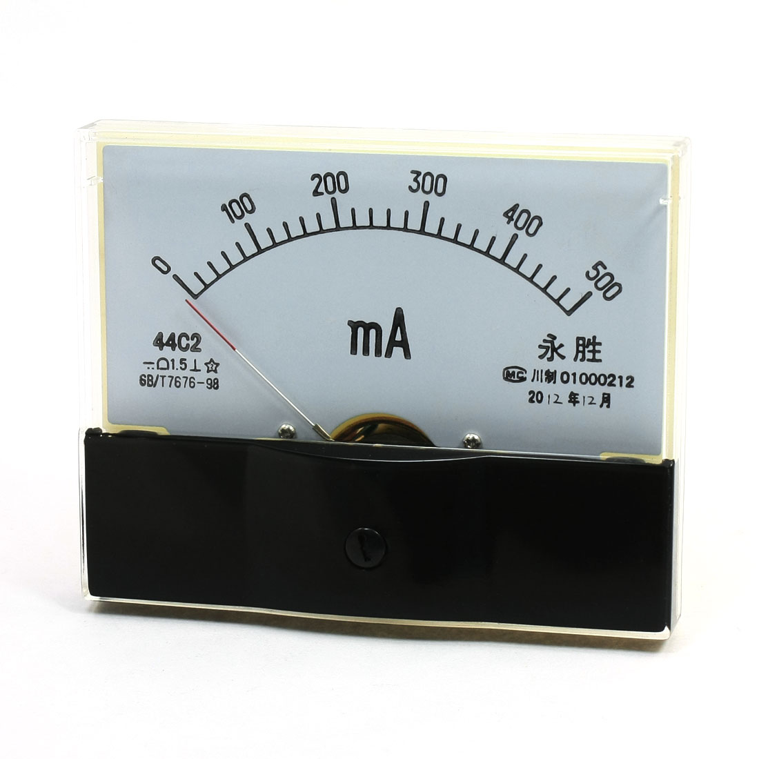 Fine Tuning Dial Panel Ampere Meter 44C2 DC 0-500mA