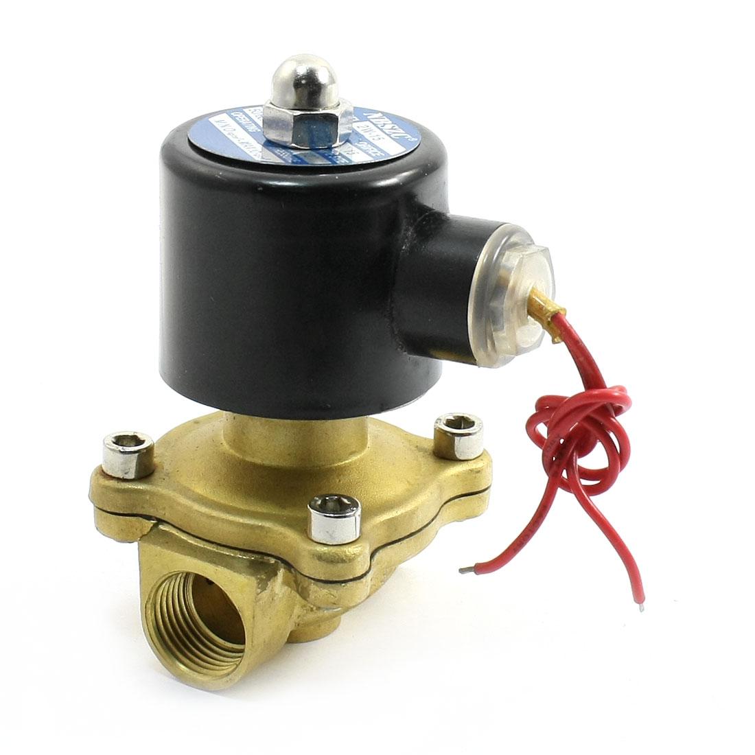 "0-10kg/cm2 Pressure AC24V 2 Position 1/2"" Water Gas Electric Solenoid Valve"