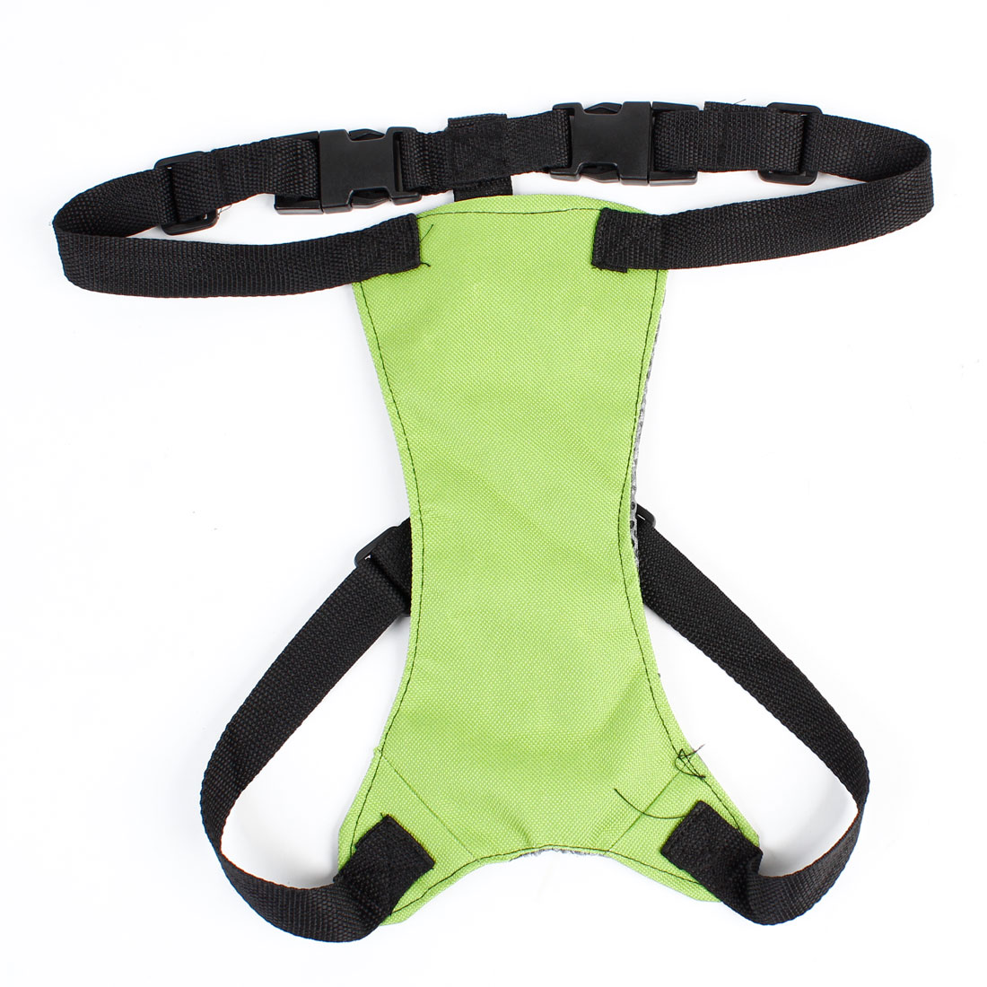 Dog Puppy Green Black Release Buckle Mesh Lining Adjustable Harness Vest