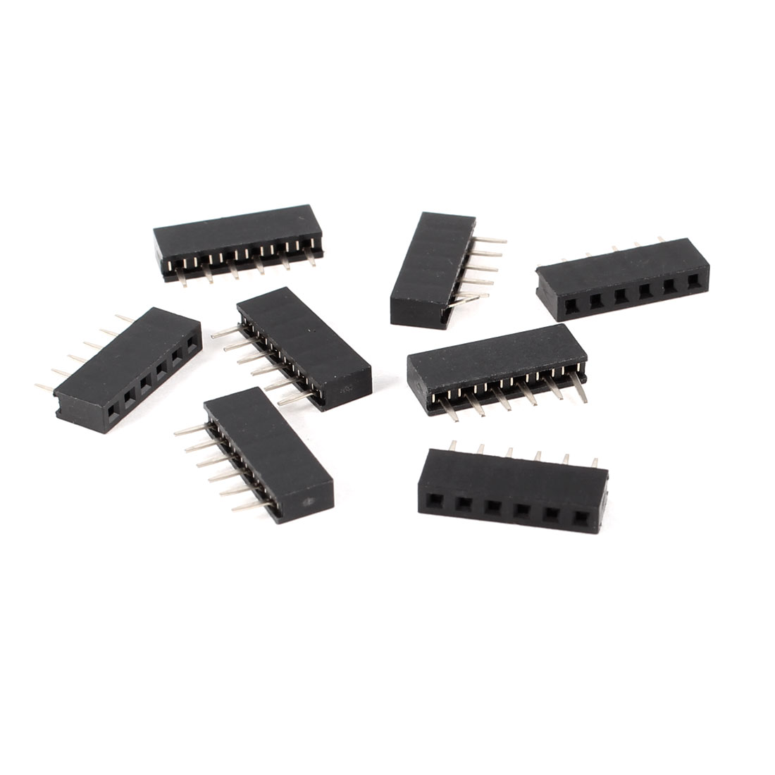 8 Pcs Single Row 2mm Pitch 6 Pin Straight Female Header Socket