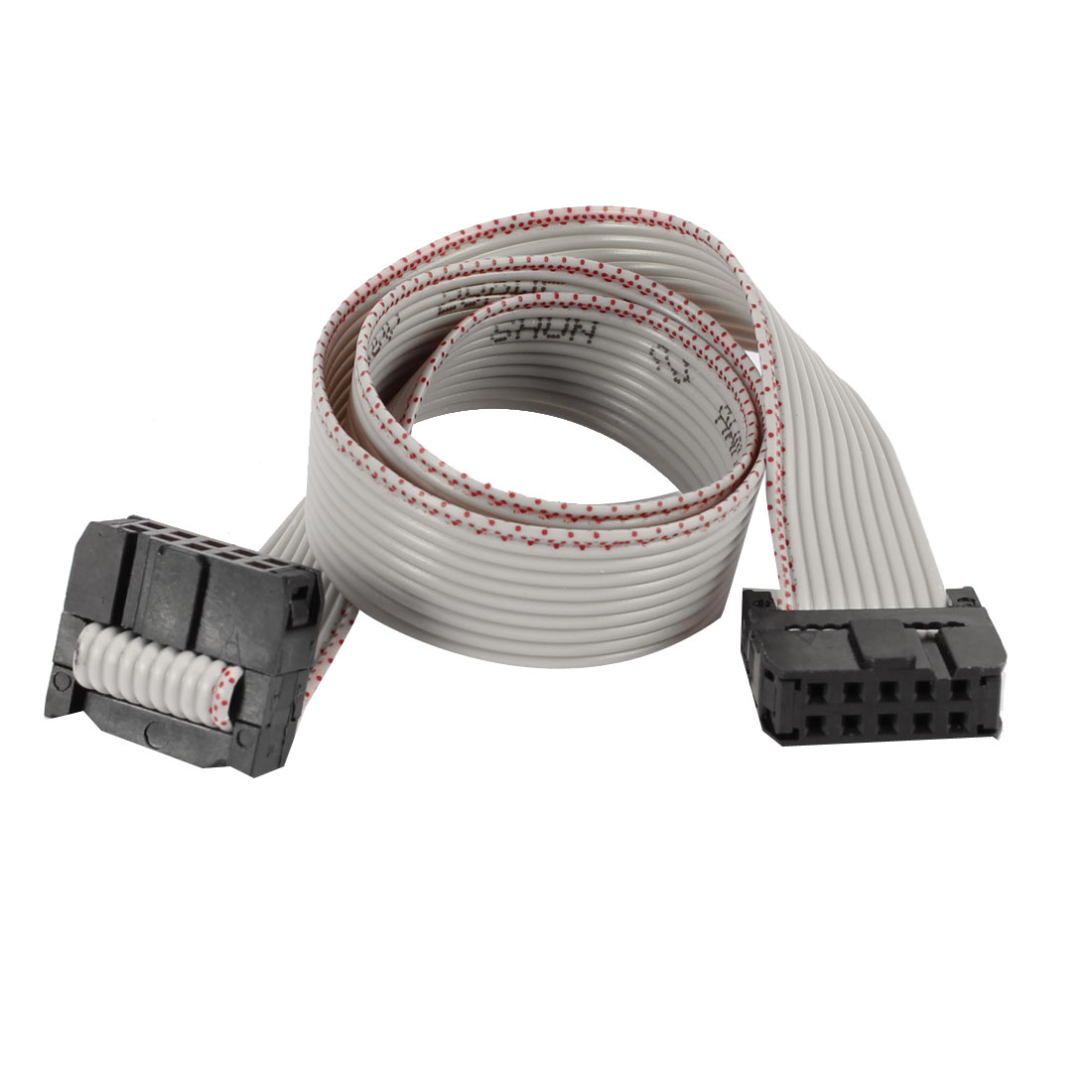 30cm Long Dual IDC FC-10P Connector JTAG Download FFC Cable Wire
