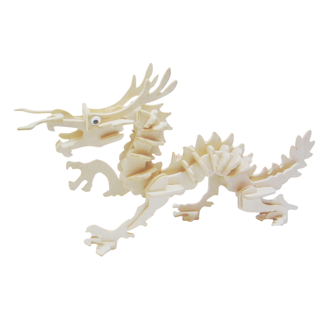 Children Educational DIY 3D Dargon Wooden Jigsaw Assemble Puzzle Toy
