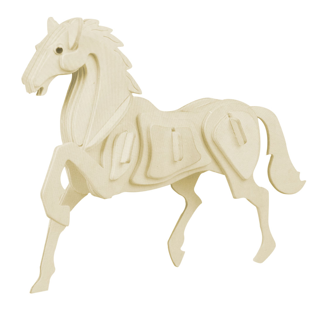 Emulation Horse Model 3D Picture Wooden Assemble Puzzle Toy for Collectors