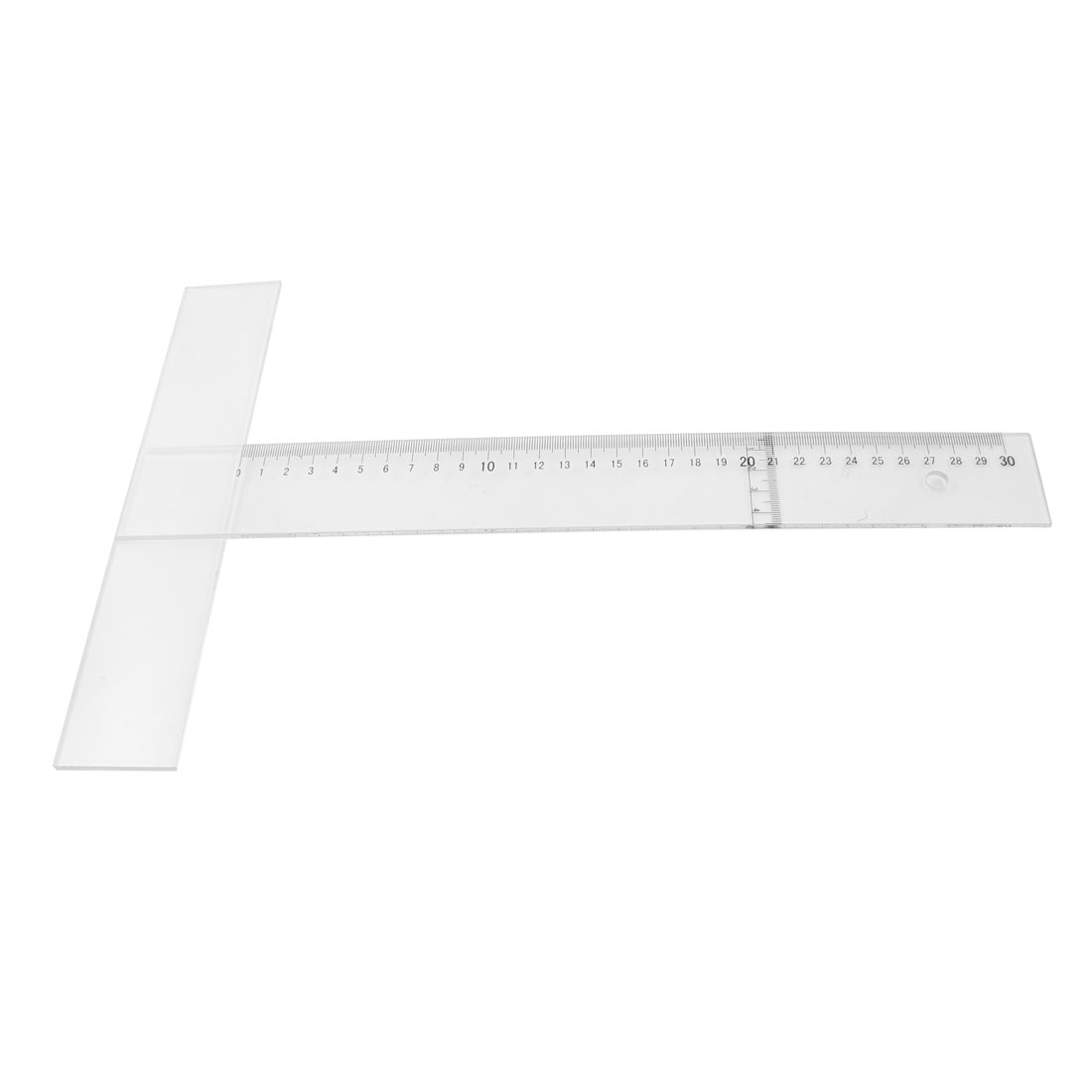 30cm Measurement Black Arabic Numeral Dial Clear T-square Ruler