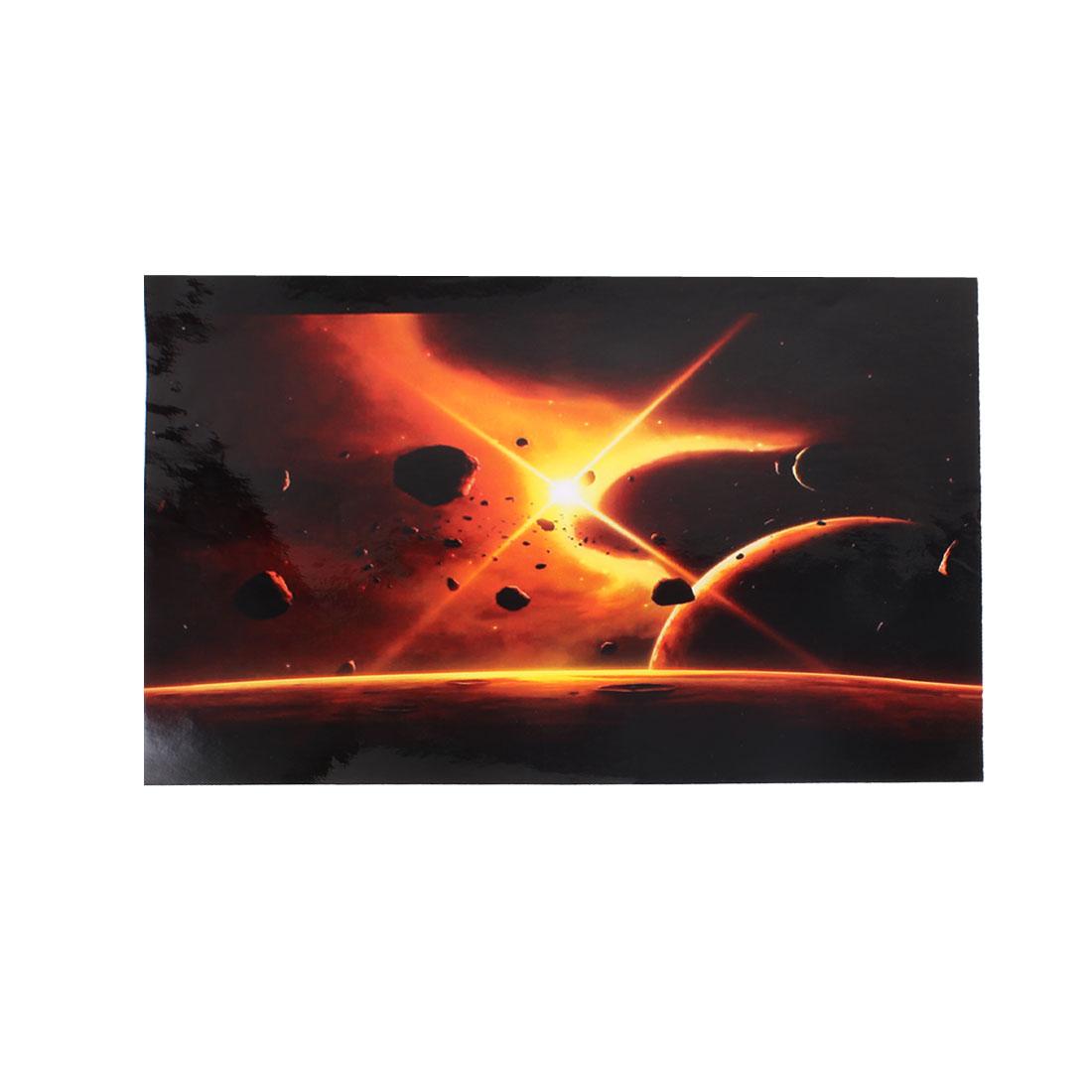 """15.6"""" 14"""" 13"""" 11.6"""" 10"""" Laptop PC Meteorites Pattern Sticker Decal Black Orange"""