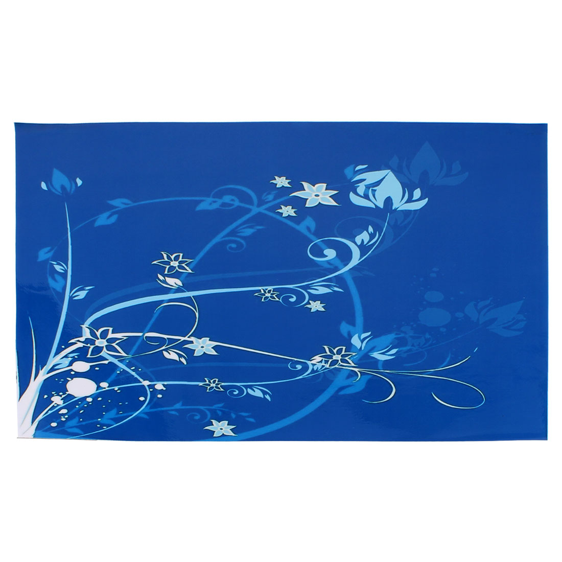 "15.6"" 14"" 13"" 11.6"" Laptop PC Skin Flower Pattern Sticker Protective Decal Blue"