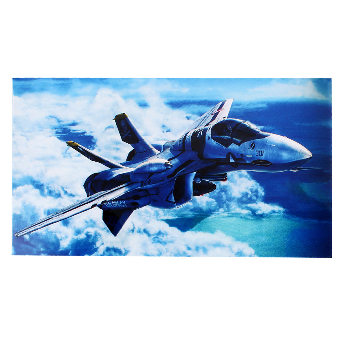 "15.6"" 14"" 13"" 12"" Laptop Skin UN Spacy Fighter Pattern Sticker Decal White Blue"