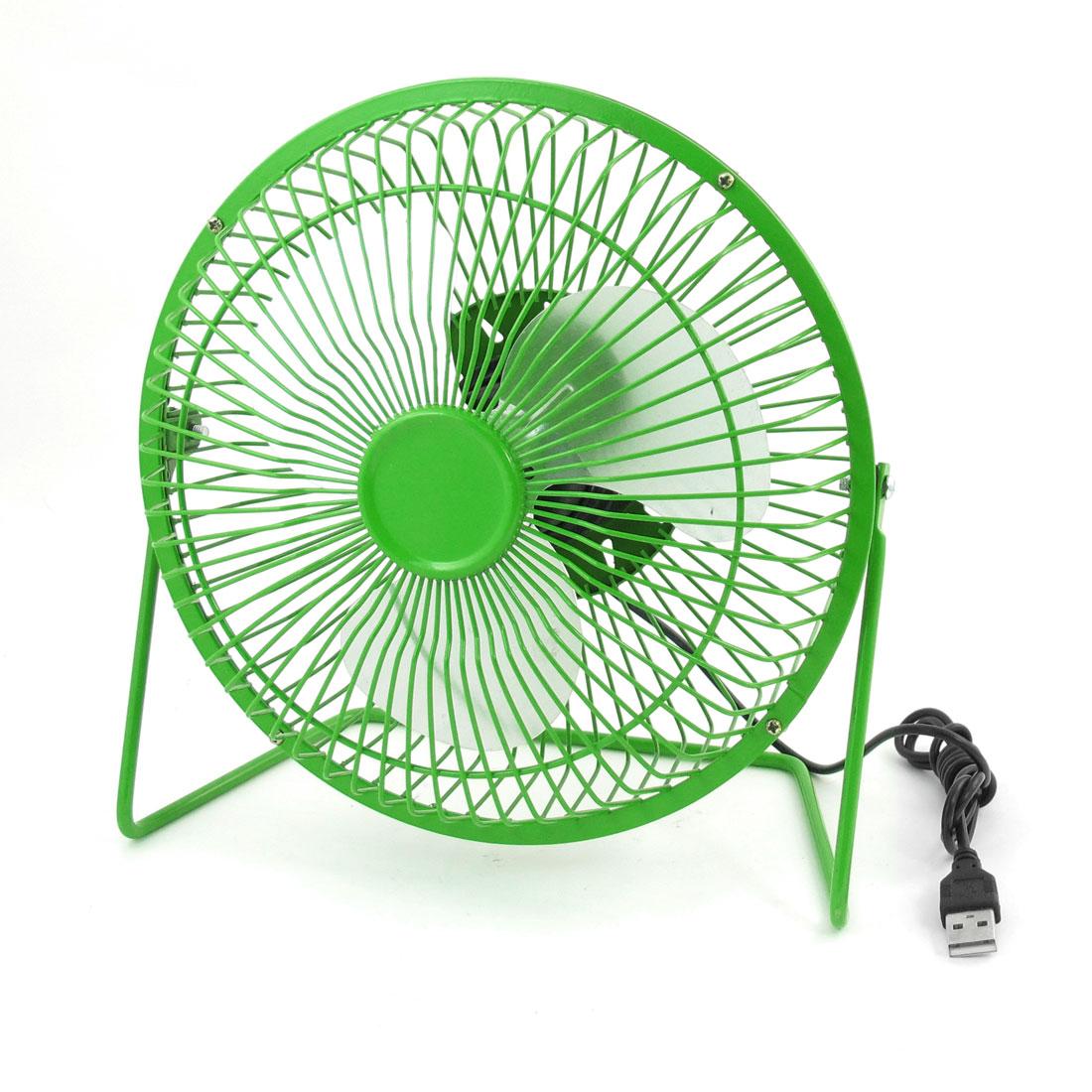 Adjustable Angle USB Connector Cooler Cooling Desk Mini Fan Green