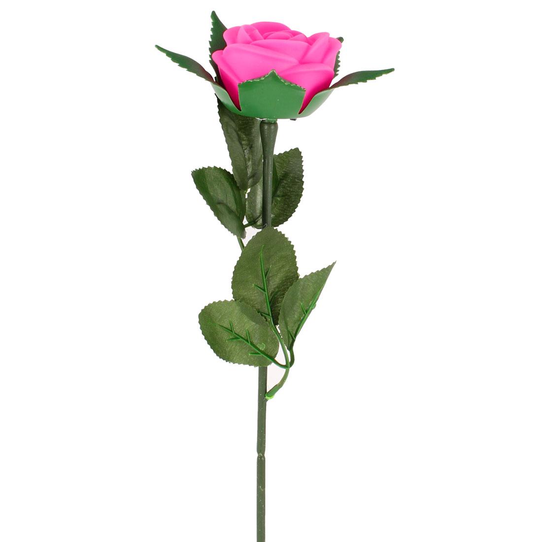 Bedchamber Decor Flashing Change Color LED Light Pink Rose Lamp