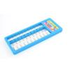 Portable 55 White Beads Blue Plastic Frame Japanese Soroban Abacus