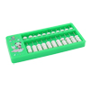 Green Plastic Frame 11 Rows Japanese Soroban Abacus Calculating Tool for Child