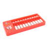 55 White Beads Red Plastic Frame Japanese Soroban Abacus Calculator