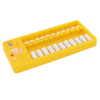 Education 55 Beaded 11 Rods Digits Yellow Plastic Frame Mini Abacus Soroban
