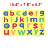 Kids 26 English Letters Magnetic Education Foam Jigsaw Puzzle Toy Yellow