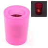 LED Electronic Flameless Light Lovers Pattern Projection Candles Lamp Fuchsia