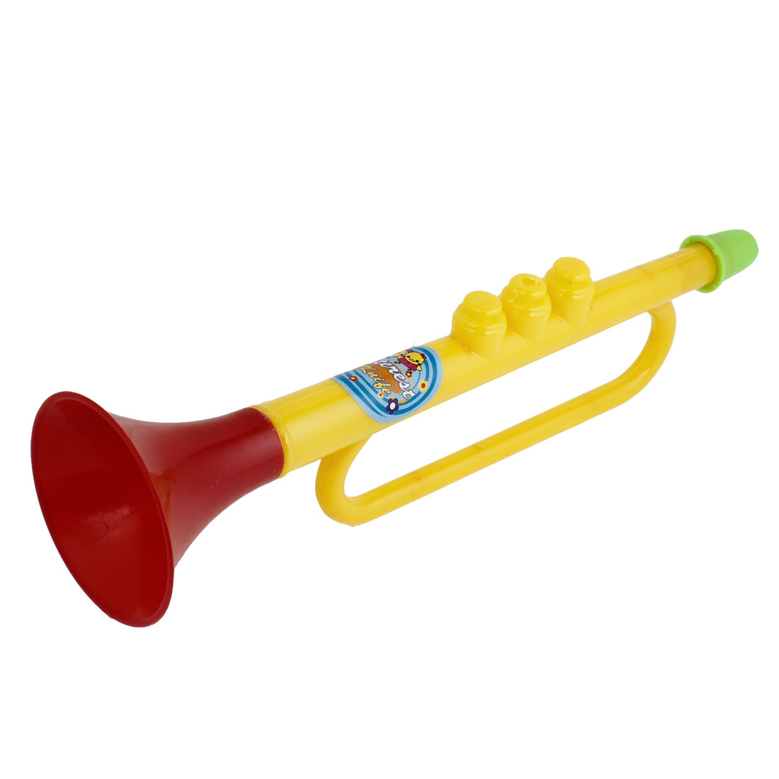 Plastic Yellow Red Cheerful Trumpet Horn Match Toy for Child