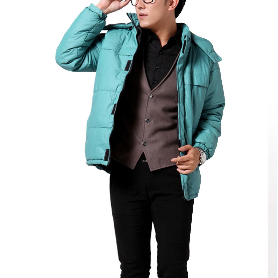 Aqua Thicking Raglan Sleeve Zip Up Padded Warm Jacket Man S