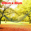 Outdoor Sports Camping Garden Nylon Meshy Net Hammock Sleeping Bed Army Green 2x0.8 Meters