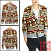 Men Single Breasted V Neck Ochre Cardigan Knitted Shirt S