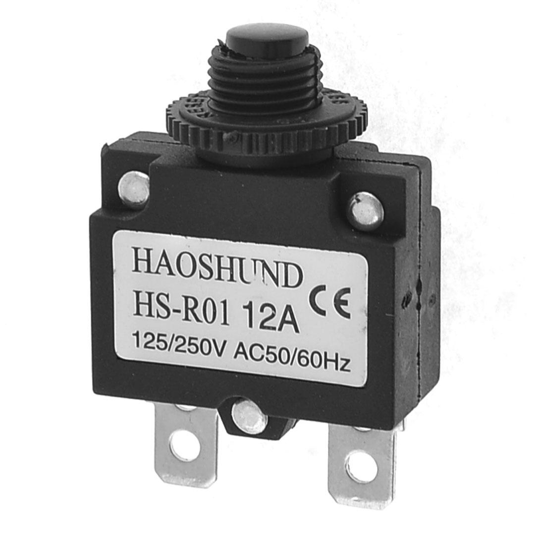 Air Compressor Circuit Breaker Overload Protector AC125/250V 12A