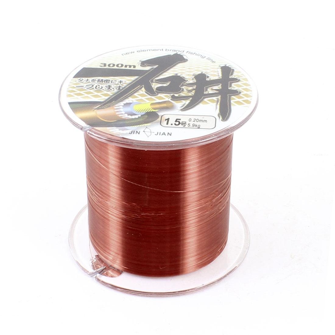 0.20mm Diameter 5.9kg 13LB 1.5# Dark Brown Fishing Line Spool 300M 984.3 Ft