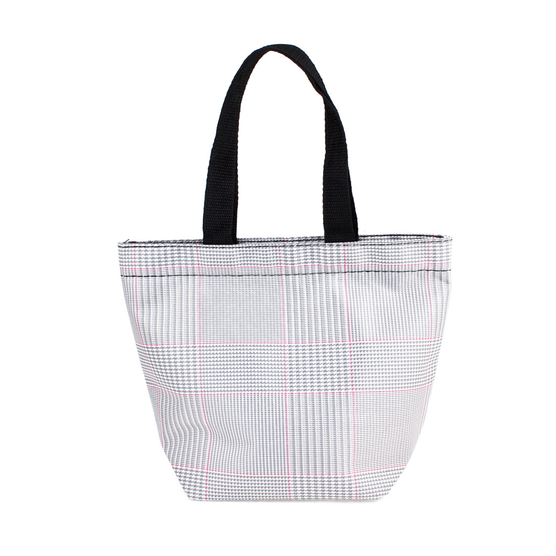 Chequer Pattern Recycle Portable Shopping Handbag Totes Gray