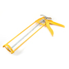 "Yellow Silver Tone 9"" Cartridges Trigger Glue Sealant Caulking Gun"