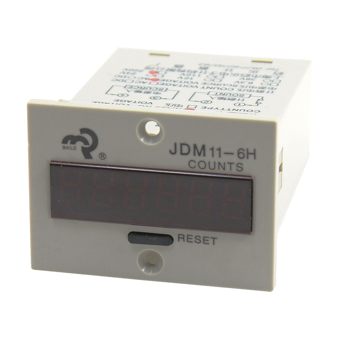 JDM11-6H Resettable 0-999999 6 Digits LED Display Digital Counter AC 220V