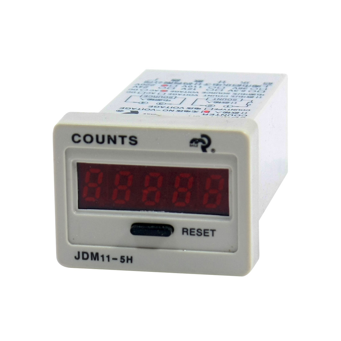 Reset Panel Mount 0-99999 LED Display Digital Counter JDM11-5H AC 220V